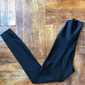 American apparel high waist black nylon leggings